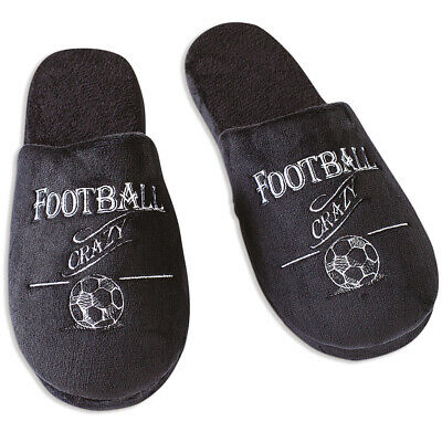 Ultimate Man Gift Slippers Football Crazy Football Fan Gift Idea - Various Sizes