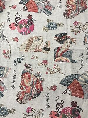 Japan Printed Fabric Panel Make A Cushion Upholstery Craft