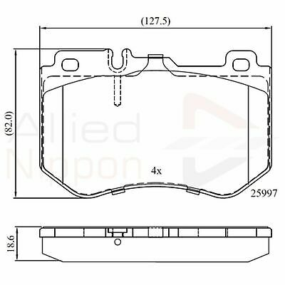 Land Rover Discovery MK4 3.0 SDV6 17.8mm Thick Allied Nippon Front Brake Pads