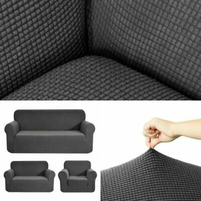 1-3 Seater Stretch Elastic Fabric Sofa Settee Protector Covers Couch Slipcover