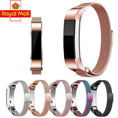 Magnetic Milanese Stainless Steel Watch Band Strap for Fitbit Alta / Alta HR UK