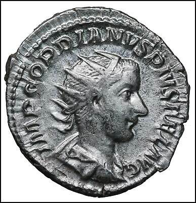 Gordian III AR Antoninianus old ancient roman silver coin Rome Empire Imperial A