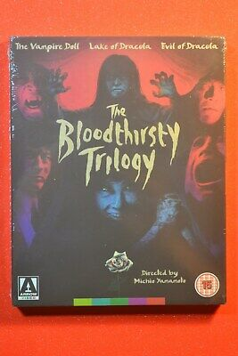 UK New & Sealed with Slipcover ARROW VIDEO: THE BLOODTHIRSTY TRILOGY Blu-ray