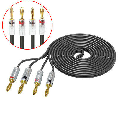 BY LASPADA AUDIO 4 FT AUDIOPHILE SINGLE CENTER CHANNEL SPEAKER CABLE 16 GAUGE