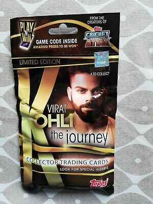Cricket Attax 2019 rare limited edition. Virat Kolhi- the journey series 4. New