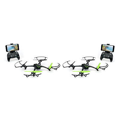 Sky Viper Scout Live Streaming & Video Recording RC Drone Quadcopter (2 Pack)