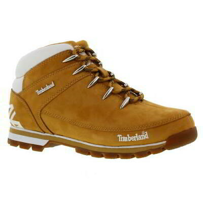 Timberland Euro Sprint Hiker Mens Yellow Leather Ankle Boots Size UK 7-11