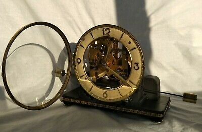 very interesting mantel clock by Gustav Becker with seesaw pendulum