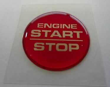 Challenger Charger Grand Cherokee Engine Start Stop Push Button Decal Red