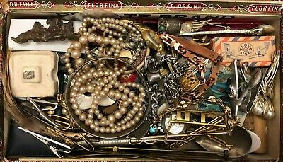 "ANTIQUE & VINTAGE Drawer jewelry AND MORE"" JUNK DRAWER LOT!"