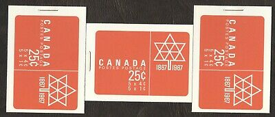 Stamps Canada # BK 54, 1¢, 1967, 3 booklet MNH stamps.