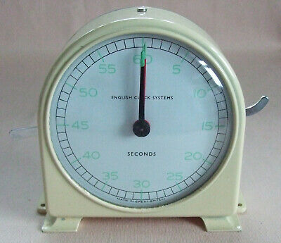 Vintage English Clock Systems (Pre Smiths) Seconds Timer, Working