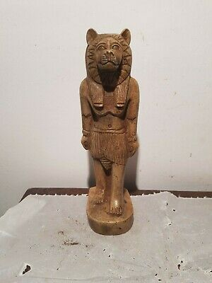 Rare Antique Ancient Egyptian Statue God Sekhmet Lion War Army Hunt1840-1750BC