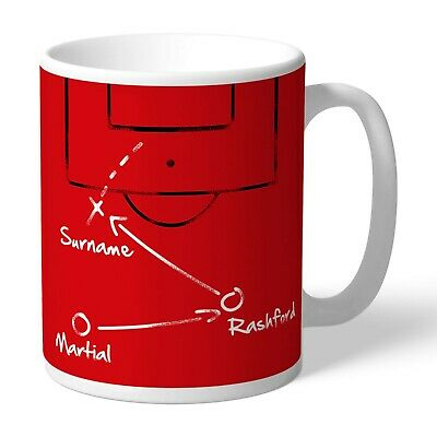 Personalised MANCHESTER UNITED Mug Gift Man Utd MUFC Team Player Cup OFFICIAL