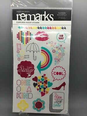 American Crafts Remarks Sticker Book Patchwork Alphabet 660 Multi Stickers