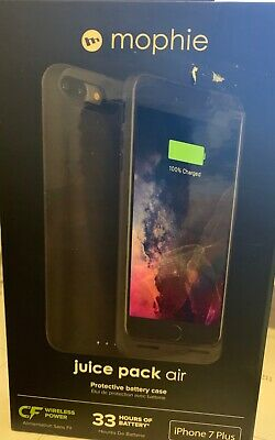 NEW! Mophie Juice Pack Air Battery Case For iPhone 7plus 8 plus - Black