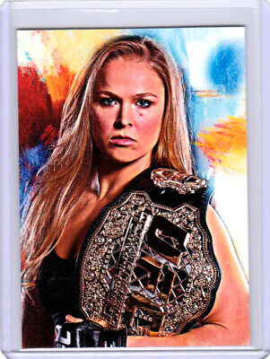 2019 Ronda Rousey MMA/WWE Wrestling 1/1 Art ACEO Sketch Print Card By:Q