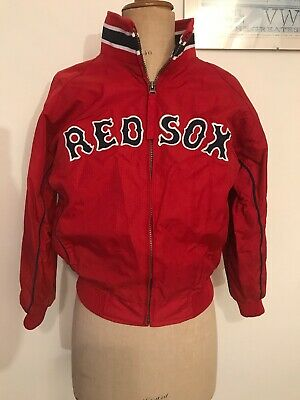 """Red Sox Boston American Baseball Majestic Authentic Red Zip Jacket Size M 38"""""""