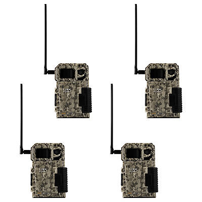 SPYPOINT LINK MICRO Nationwide 4G Cellular Hunting Trail Game Camera (4 Pack)