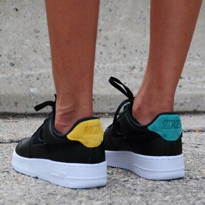 NIKE AIR FORCE 1 07 Lux Inside Out Black Gold Green