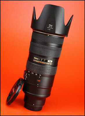 Nikon AF-S 70-200mm F2.8G MK II VR N Zoom Lens With Front & Rear Caps & Hood