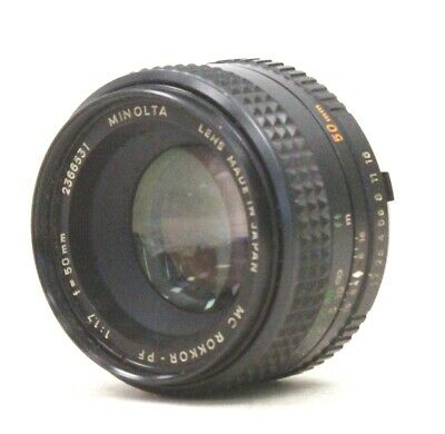 MINOLTA MC Rokkor-PF 50mm f/1.7 MD Mount Prime Camera Lens  - C10