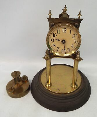 Vintage Brass MANTLE CLOCK Made In Germany - Spares/Repairs - W40