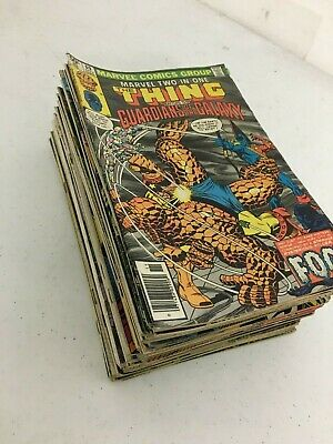 Huge Lot (45) Old Marvel DC Comic Books Batman Superman Aquaman Iron Fist Thing