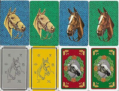 8 Vintage Swap Playing Cards - Horses - B
