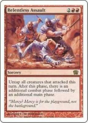 Relentless Assault Visions NM Red Rare MAGIC THE GATHERING MTG CARD ABUGames