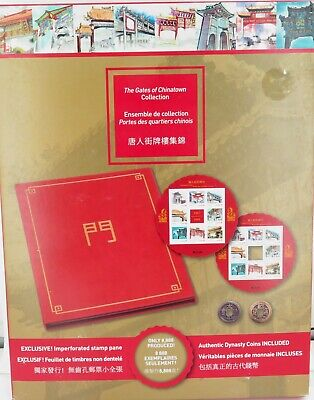 """CANADIAN """"THE GATES of CHINATOWN"""" LIMITED EDITION COIN & STAMP SET. UNOPENED !"""