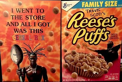 Travis Scott Reeses Puffs Cereal Limited Edition Cactus Jack Astroworld Sold Out