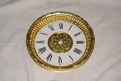 Black Mantel Dial / Bezel Combo New Clock Parts