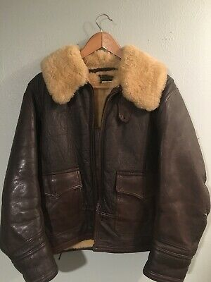 Original WWII US Navy M-445a Heavy Winter Jacket Issued Vintage Shearling 38
