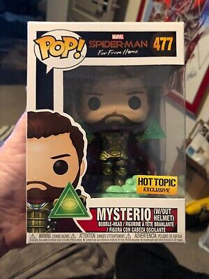 Funko Pop Marvel Hot Topic Mysterio Without Helmet Spider-Man Far From Home #477