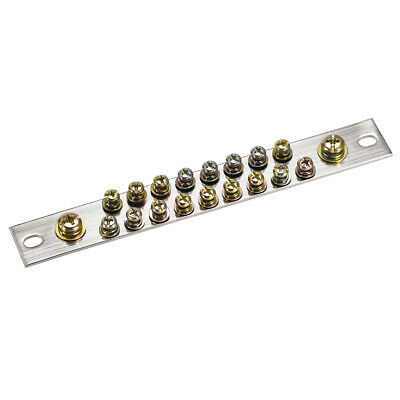 Copper Screw Terminal Block Connector Bar 100A Double Row 19 Positions