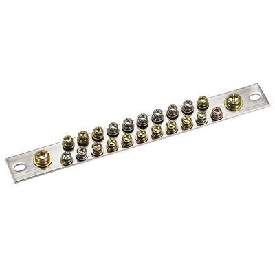 Copper Screw Terminal Block Connector Bar 100A Double Row 23 Positions