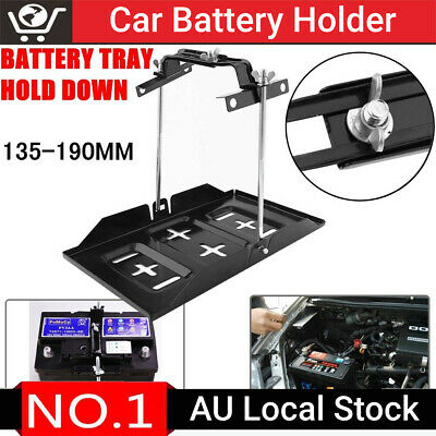 Universal Car Battery Tray Hold Down Clamp Dual Deep Cycle Kit 135-190mm AU Ship