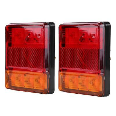 2X Car Truck Trailer Boat 12V 8 LED Tail Light Rear Brake Lamp Stop Indicator AU