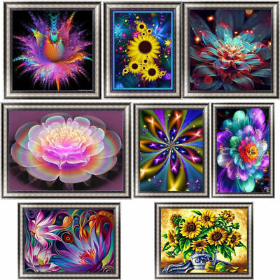 Fashion Flower DIY 5D Diamond Painting Embroidery Cross Stitch Christmas Decor