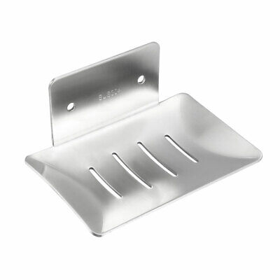 Soap Dish Holder Saver SUS304 Stainless Steel Wall Mounted Tray (Wire Drawing)