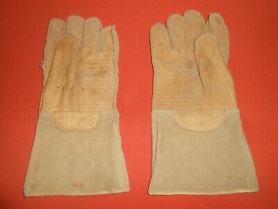 U.S.ARMY : -  U.S.M.C. 1944 WWII - Leather Gunner Mittens Gloves. U.S.M.C.