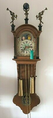 Friese Wall Clock Dutch Vintage Chain Driven Moonphase Pendule Hermle 1970 Appro