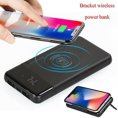 Portable 500000mAh Wireless Power Bank Dual USB Battery Charger For Mobile Phone