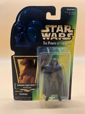 1997 Star Wars The Power Of The Force Kenner  Garindan Long Snoot Boxed Sellado