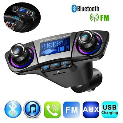 Car FM Transmitter MP3 Player Hands-free Bluetooth Stereo Audio Receiver Adapter