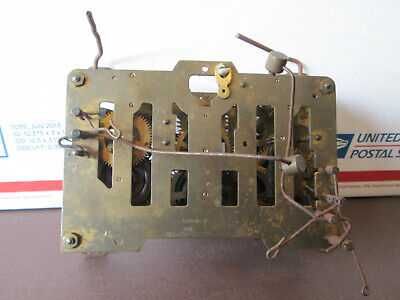 Antique 3 Train Cuckoo Clock Movement Emil Schmeckenbecher As Is For Parts(518B)