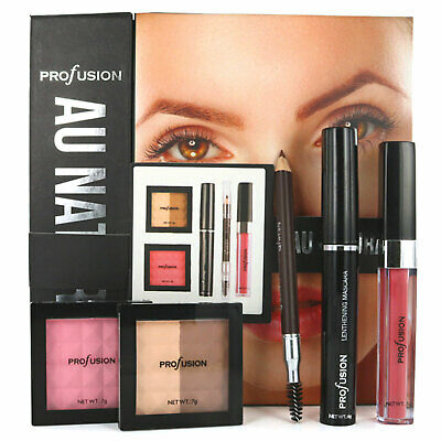 Make Up Set Profusion Au Natural Complete Kit Mascara Contour Brow Lip Gift Box