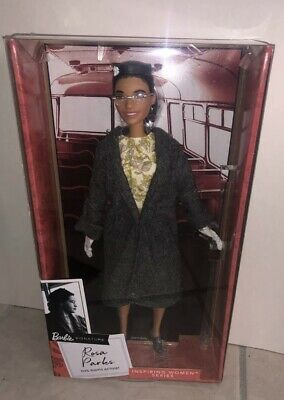 Rosa Parks Barbie 2019 NEW IN HAND...shipped With Tracking And Packed With Care