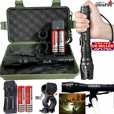350000LM CREE T6 LED Flashlight Rechargeable Zoom Torch 18650 Battery Work Light